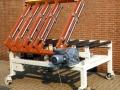 Rollentransport mit integriertem, 90°-schwenkbarem Rollentisch
